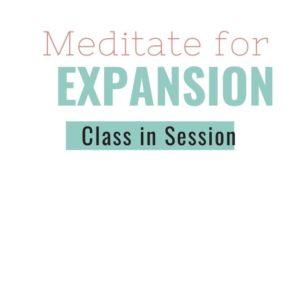 Meditate for Expansion by Natasha Davis