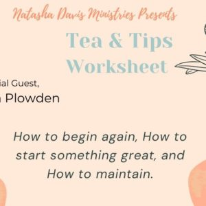 Tea & Tips Worksheet